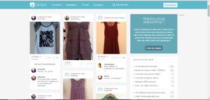 Page d'accueil du site Vinted.fr